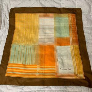 Christian Dior vintage silk scarf 60 inch square